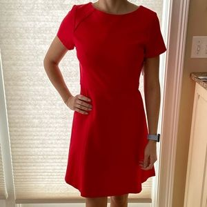 NWT j. Crew dress. size 4 beautiful red dress!